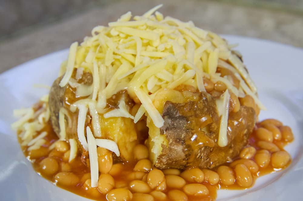 Cheese and Peppers City Cafe Jacket Potato Beans & Cheese