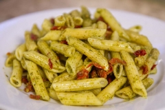 Cheese and Peppers City Cafe Penne Pesto Sun Dried Tomato