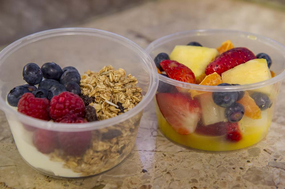 Cheese and Peppers City Cafe Breakfast Pots Fruit Yoghurt Granola