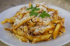 Cheese and Peppers City Cafe Pasta Meat Sauce